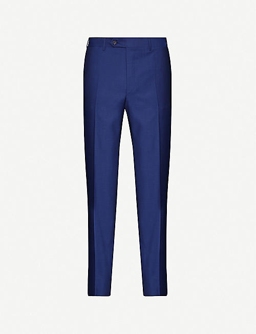 CANALI Regular-fit slim wool trousers