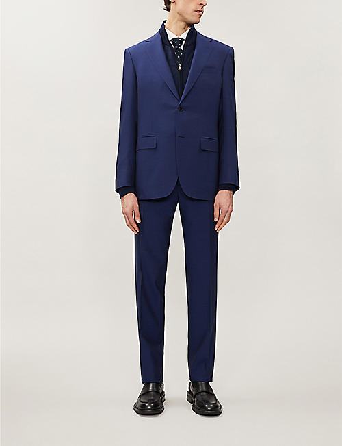 CANALI Single-breasted wool suit