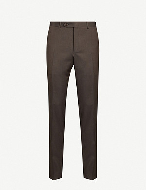 CANALI Micro dot regular-fit straight wool trousers