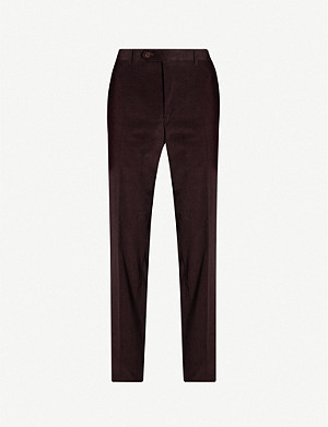 CANALI Slim-fit cotton corduroy trousers