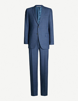 CANALI Hopsack regular-fit wool suit