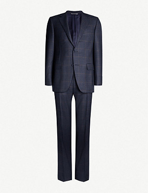 CANALI Single-breasted regular-fit wool suit