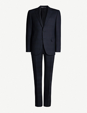 CANALI Checked regular-fit wool suit