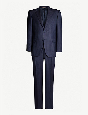 CANALI Striped regular-fit wool-hopsack suit