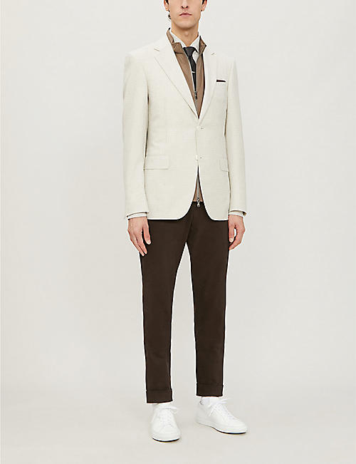 CANALI Relaxed tailored-fit silk-and-wool-blend jacket