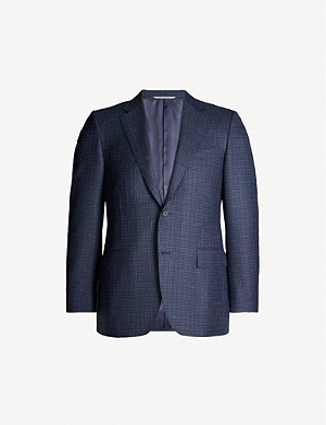 CANALI Dogtooth regular-fit wool blazer