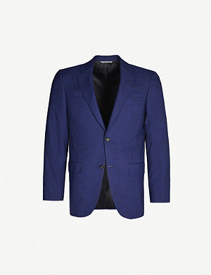 CANALI Regular-fit single-breasted wool and silk-blend blazer