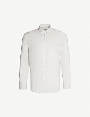 CANALI Modern-fit cotton and cashmere-blend shirt