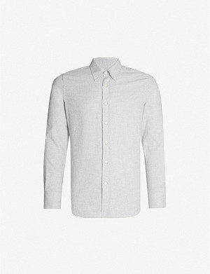 CANALI Modern-fit brushed-cotton shirt