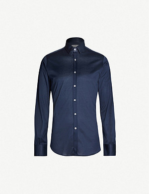 CANALI Regular-fit cotton-jersey shirt