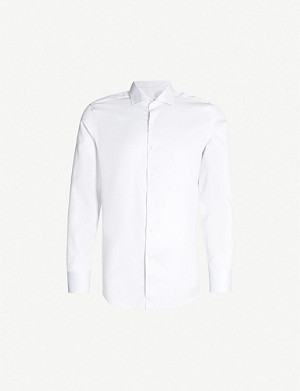 CANALI Regular-fit cotton shirt
