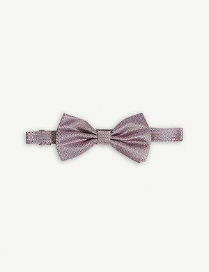 CANALI Woven silk bow tie