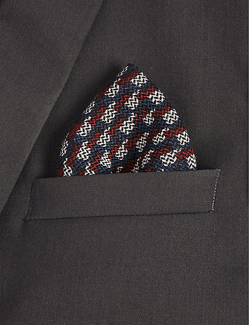 CANALI Wool and silk pocket square