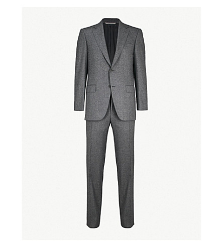 CANALI Puppytooth tailored-fit wool suit (Grey
