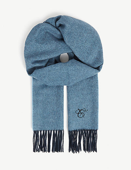 CANALI Two-tone cashmere scarf