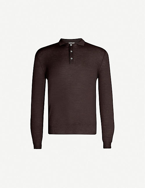 CANALI Polo wool jumper