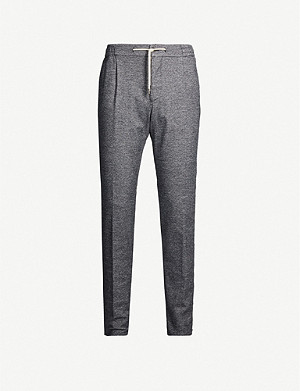 CANALI Tapered cotton-blend jogging bottoms