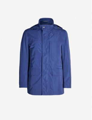CANALI Funnel-neck shell jacket