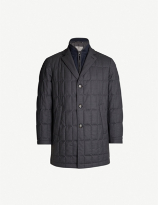 CANALI Quilted wool jacket