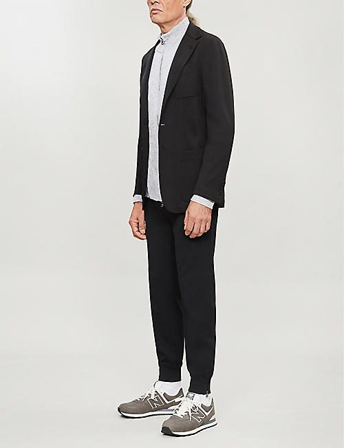 CANALI Regular-fit wool-blend blazer