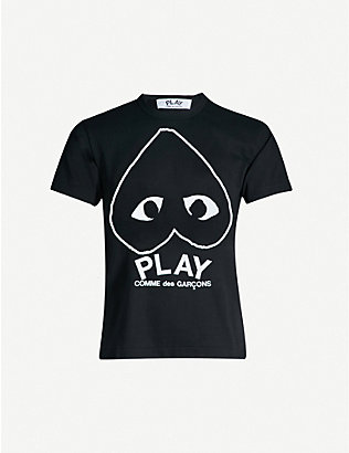 COMME DES GARCONS PLAY: Logo-print cotton t-shirt