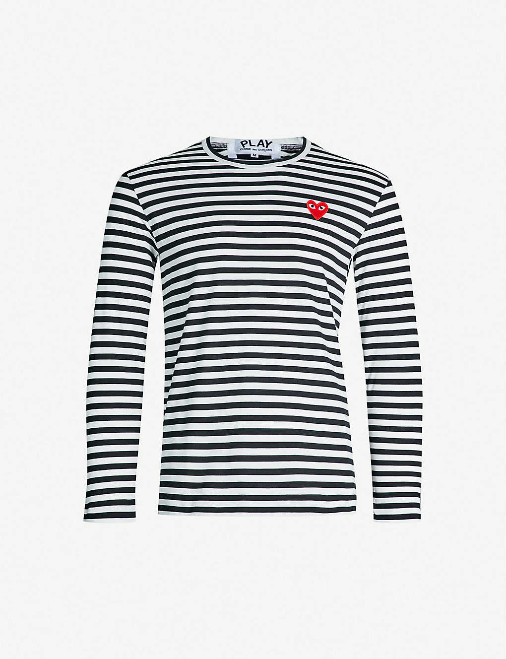 807ee3274903 COMME DES GARCONS PLAY - Striped cotton jumper