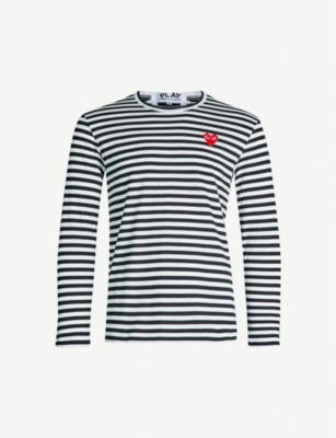 COMME DES GARCONS PLAY Striped cotton jumper