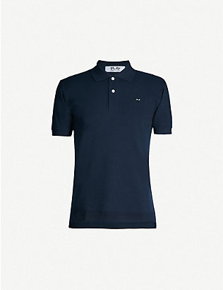 COMME DES GARCONS PLAY: Fitted cotton polo shirt