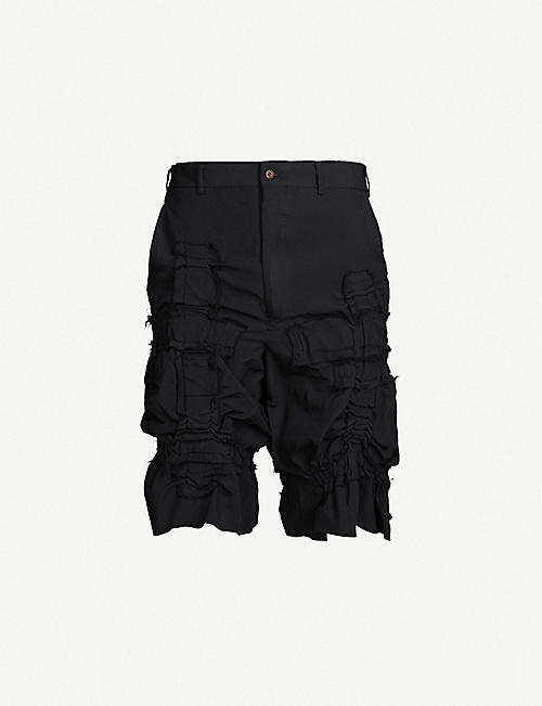 58813b8ae360e0 COMME DES GARCONS HOMME PLUS Grid textured twill shorts