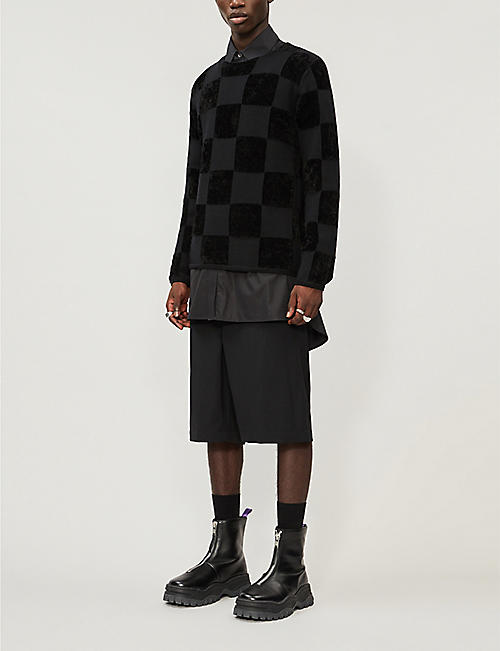 COMME DES GARCONS HOMME PLUS Tailored high-rise wool shorts