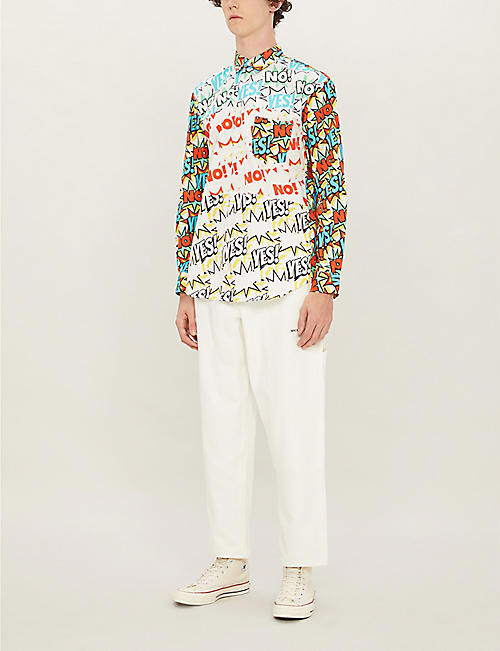 COMME DES GARCONS SHIRT Cartoon-print regular-fit cotton shirt