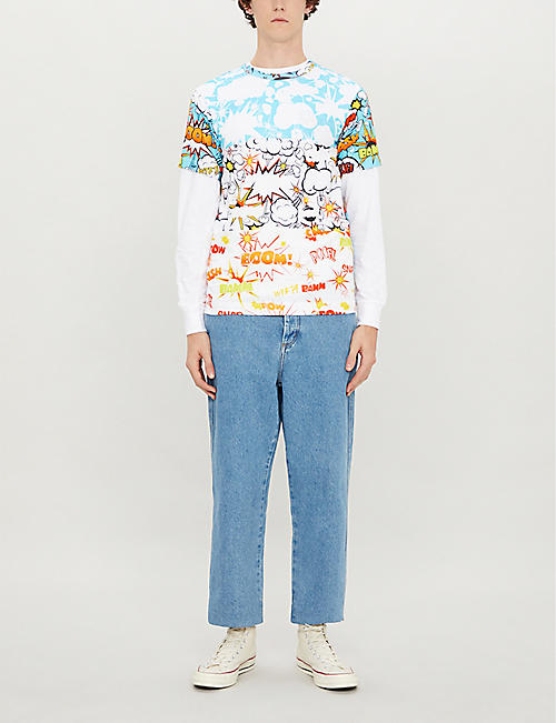 COMME DES GARCONS SHIRT Cartoon-print cotton T-shirt