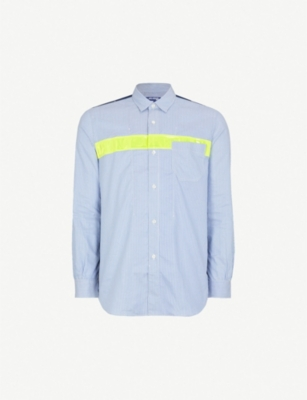JUNYA WATANABE Checked and striped regular-fit cotton and shell shirt