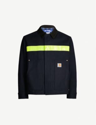 JUNYA WATANABE Carhartt reflective-stripe wool-blend jacket