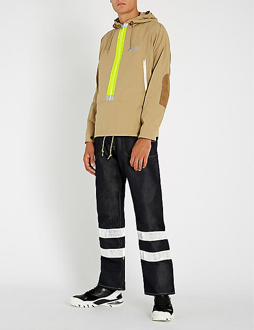 JUNYA WATANABE Hooded raglan-sleeve shell jacket