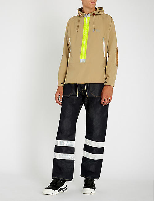 JUNYA WATANABE Reflective-trim regular-fit jeans