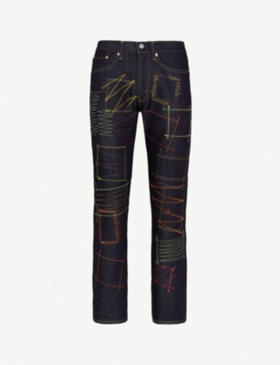 JUNYA WATANABE Contrast-stitch regular-fit jeans
