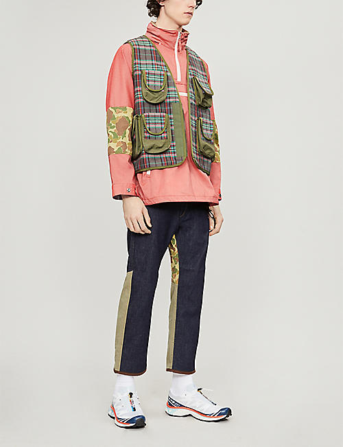 JUNYA WATANABE Checked patch-pocket cotton vest