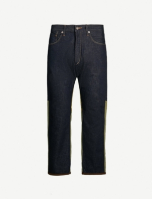 JUNYA WATANABE Patchwork regular-fit straight jeans
