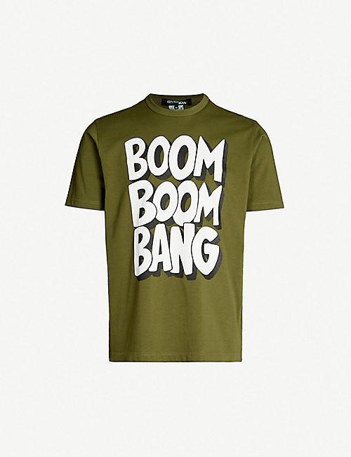 1ab6b0fdb38 JUNYA WATANABE Slogan-print cotton-jersey T-shirt