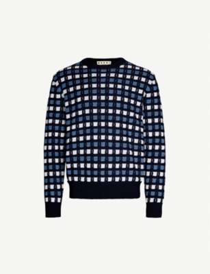 MARNI Geometric cotton jumper