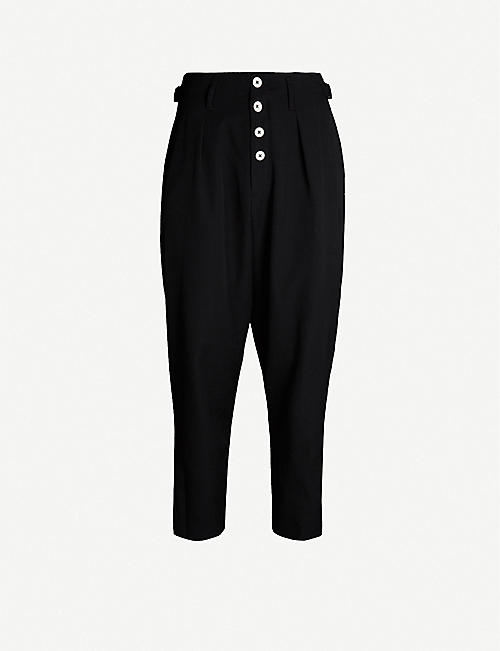 YOHJI YAMAMOTO Regular-fit tapered wool trousers