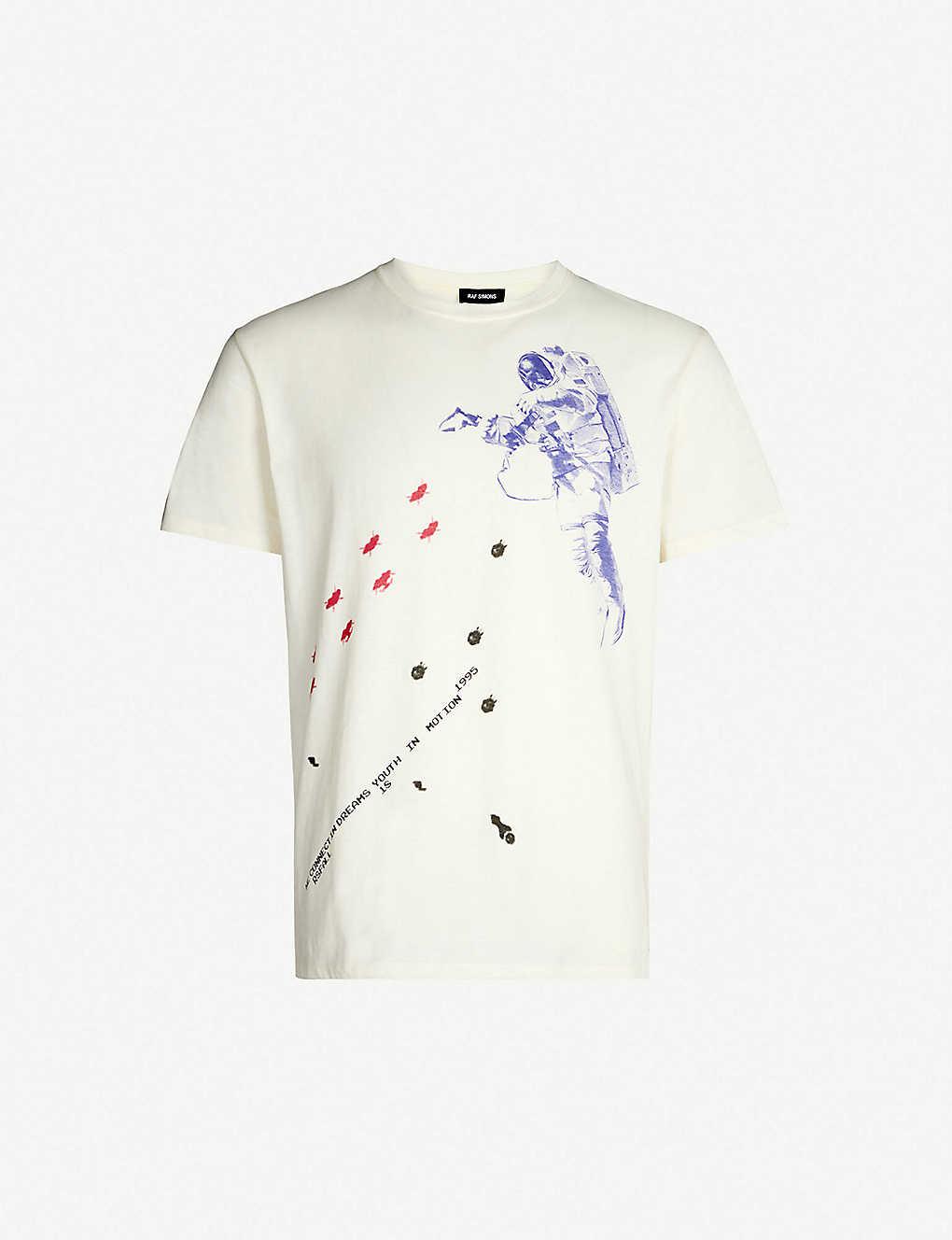 4619db525 RAF SIMONS - Astronaut-print cotton-jersey T-shirt | Selfridges.com
