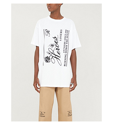 Raf Simons Tops GRAPHIC-PRINT COTTON-JERSEY TEE