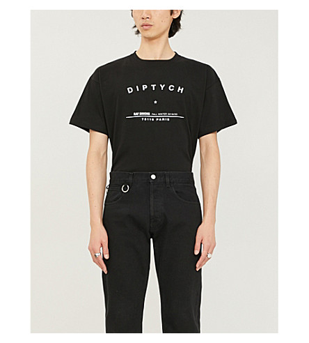 Raf Simons T-shirts DIPTYCH COTTON-JERSEY T-SHIRT