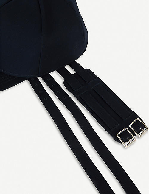 RAF SIMONS Strap-fastening double cotton cap