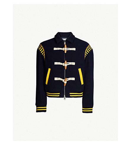 JW ANDERSON Toggle-detail wool jacket (Navy