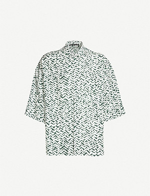 HAIDER ACKERMANN Graphic-print relaxed-fit rayon and silk-blend shirt