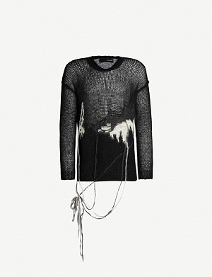 ISABEL BENENATO Distressed knitted jumper