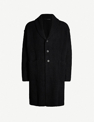 ISABEL BENENATO Open-front alpaca-blend coat